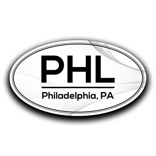 More Shiz PHL Philadelphia Pennsylvania Airport Code Decal Sticker Home Travel Car Truck Van Bumper Window Laptop Cup Wall - Two 5.5 Inch Decals - MKS0607