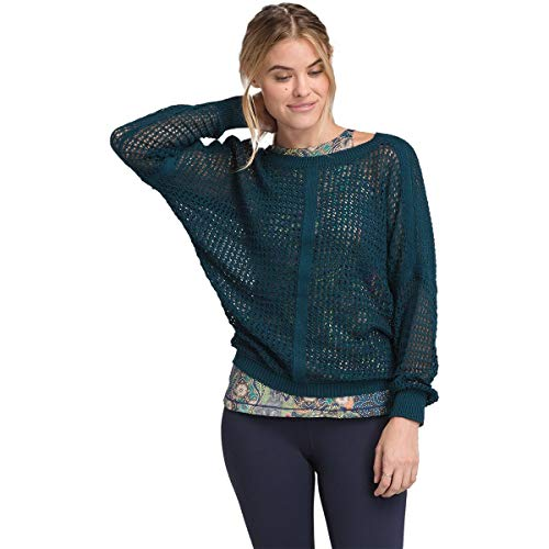 (prAna Women's Sharla Sweater Petrol Blue Medium)