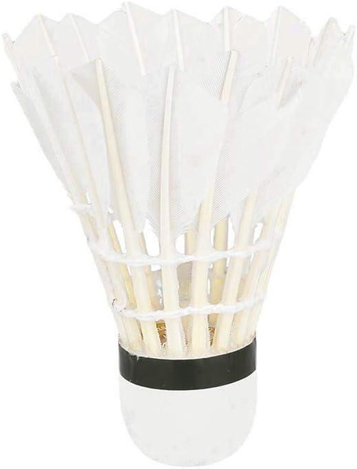 balles de Badminton dentra/înement Sportif Stables et durables pour Le Jeu int/érieur//ext/érieur TOPmountain Volants de Badminton 12 pi/èces Volants en Plumes doie