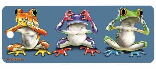 Artgame - No Evil Frogs - 3D Bookmark