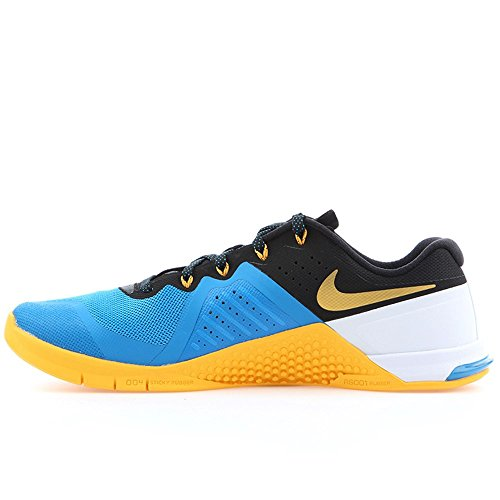 Nike Mens Metcon 2 Synthetic Blue/Black/University Gold/White Trainers - 9.5 D(M) US
