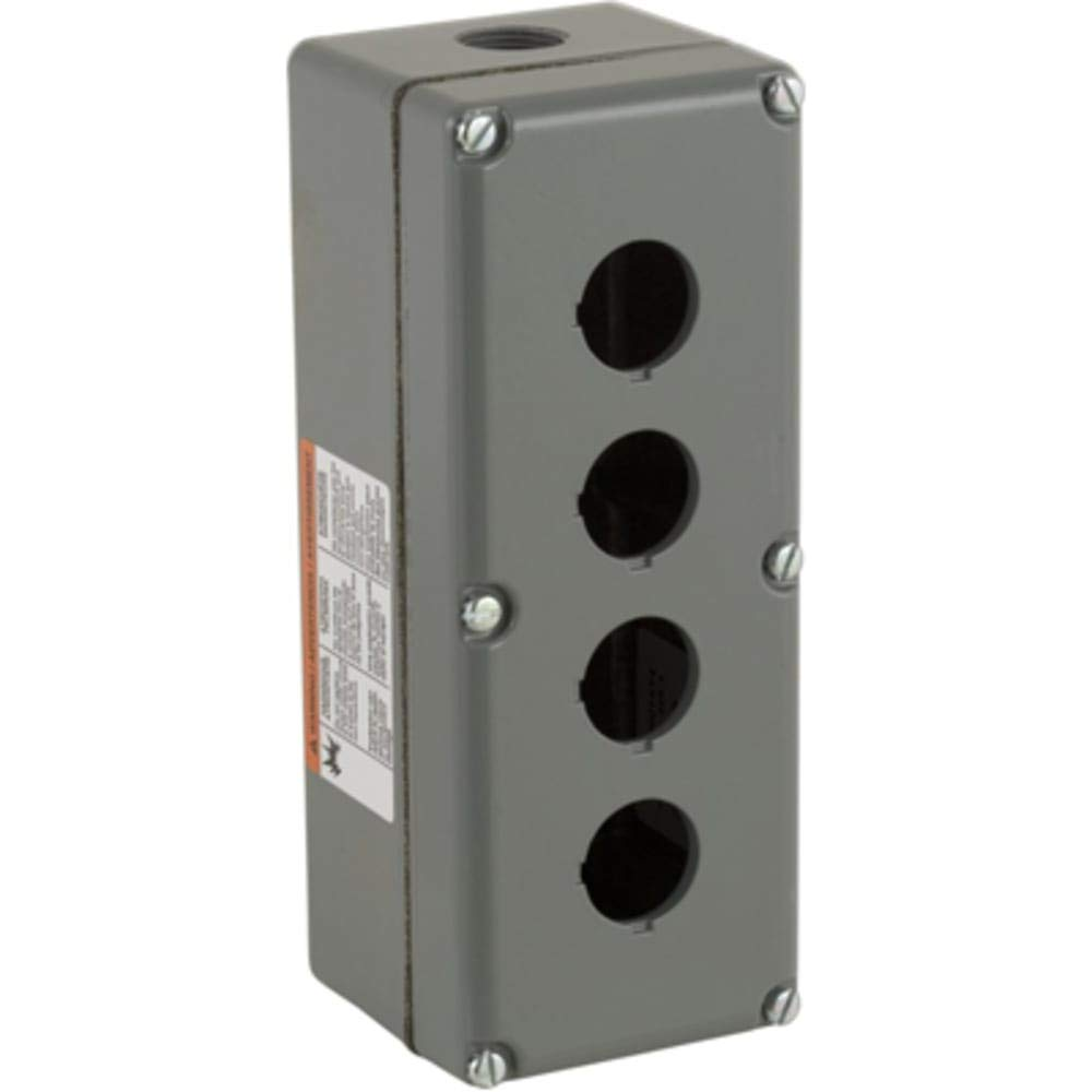 Enclosure; Pushbutton; 4 Hole; 30mm; Aluminum; N/A; Null; N; Harmony Series