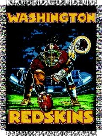 Washington Redskins 48x60 Woven Tapestry Throw Blanket (3 Point Stance (Woven Triple Layer Tapestry Throw)