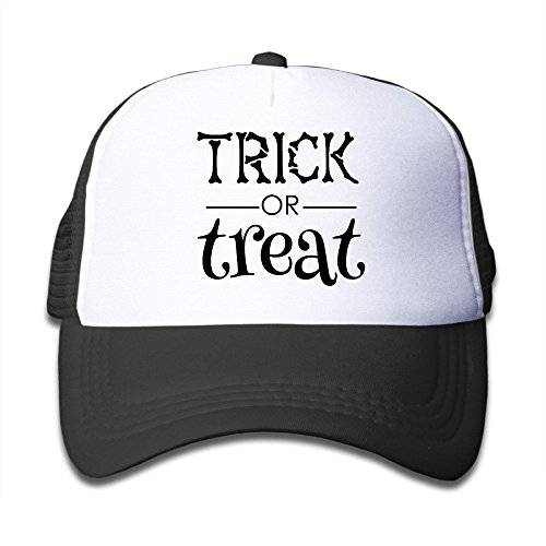 WH&SY Trickortreat Children Mesh Trucker Cap Adjustable Fashion Kids Mesh Snapback Hat Cool Caps Black]()