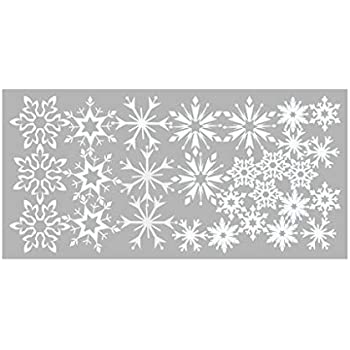 Snowflake Self Adhesive Wall Decor Removable Sticker, Removable DIY Art Wall Stickers Murals for Living Room TV Background Kids Girls Rooms Bedroom Decoration (White, 20x40cm)