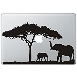Elephant Safari Apple Macbook Pro Air Laptop Sticker Decal Skin, Macbook Air 11""