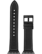 Replacement Bands for Apple Watch Band 42mm 44mm, Sweatproof Genuine Leather and Band Strap Compatible with iWatch Series 5 Series 4 Series 3 Series 2 Series 1