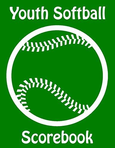 Youth Softball Scorebook: 50 Scorecards With Lineup Cards For Baseball and Softball Games por Franc Faria