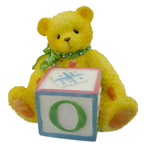 Cherished Teddies BEAR WITH ABC BLOCK Resin Teddy Bear Miniature Block 158488 O ()