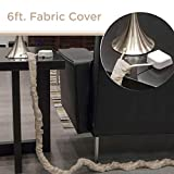 Cordinate, Champagne, Fabric Cord Cover 2 Pack, 6