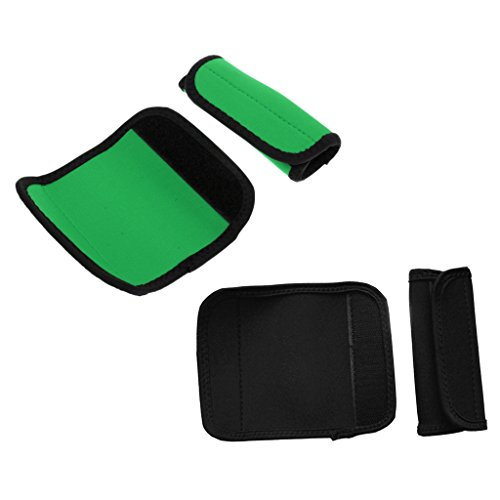 UPC 083398496136, MonkeyJack 2 Pairs Kayak Canoe Paddle Grips with Loop Tape Fastener, Prevent Blisters Calluses - Colors for your choose - Black and Green, 11.5 x 14 cm