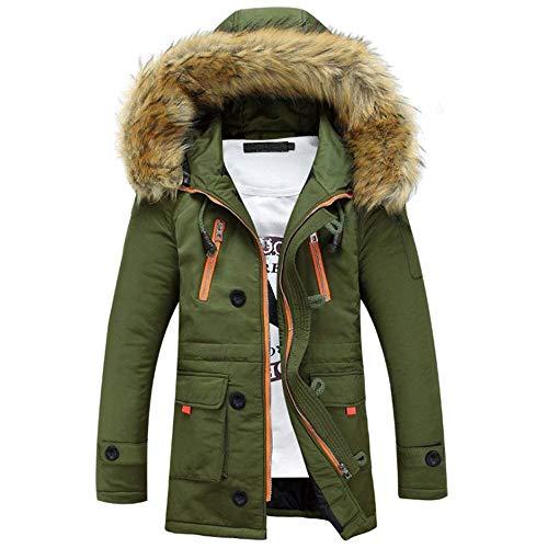 Parka Pilot Jacket Jacket Jacket Outdoor Apparel Coat Winter Men Autumn Armee Windproof Hooded Jacket Collar Jacket Hoodies Men Winter Fur Men's Grün Coat ASqt7xqw