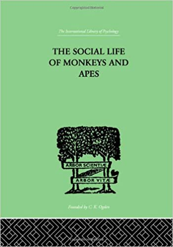 Book The Social Life Of Monkeys And Apes (International Library of Psychology)