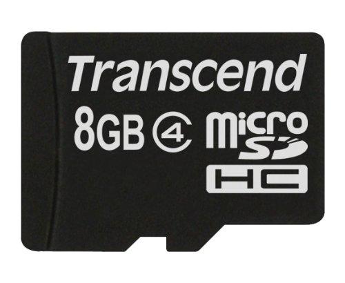 Transcend 8  GB Class 4 MicroSDHC Card  TS8GUSDC4