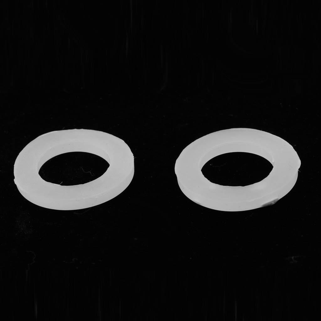 perfk 1 Pack Verschlussscheibe Dichtungsring Unterlegscheiben Dichtung Flachring Geysir-Schlauch Endkappen 50Pcs Nitril 1