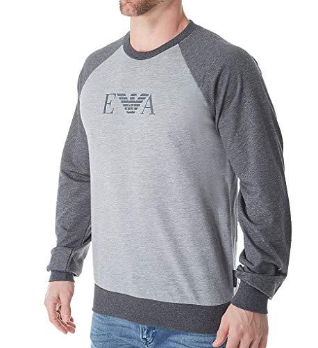 (Emporio Armani Men's Melange Mix Terry Sweater, Gray, Medium)