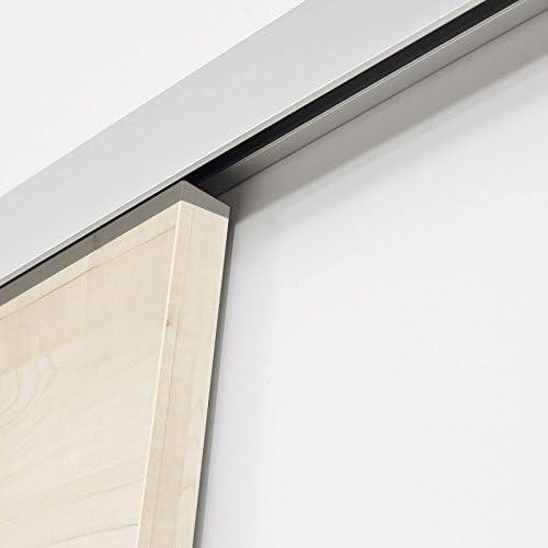 Puerta corredera de madera de separación de las habitaciones de puerta de 1700 x 2035 mm 2 galvanizada de arce: Amazon.es: Bricolaje y herramientas