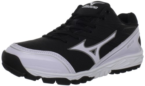 Mizuno Men's Mizuno Blaze Trainer Turf Shoe,Black/White,9 M US (Mizuno Mens Cross Shoes Training)