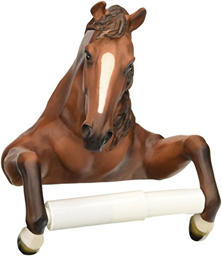 Design Toscano Holder-Steady Stallion Horse Rustic Toilet Paper Roll - Bathroom Wall Decor, Multicolor