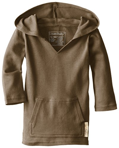 Price comparison product image L'ovedbaby Unisex-Baby Newborn Organic Hoodie, Bark, 18/24 Months