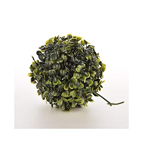 (ZHOUMOJH 12CM Plastic Artificial Buxus Topiary Balls Boxwood Grass Ball Plant Chain Hanging Garden Ornaments Outdoor Indoor Decoration)