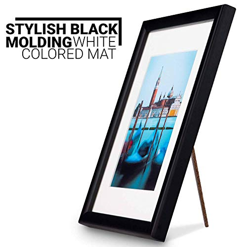 Picture Frame Photo Frames Size Fits 3.5x5 inch Photos.Picture Frame Black Made of Solid Wood Glass Ready to Hang The Frame on The Wall or Put on Desktop Horizontal Vertical.6x8 - Frame 3x5 Wood