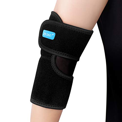 Elbow Pad, 1 Pack Elastic & Breathable Elbow Brace with Adjustable Compression Strap, Support for Tendonitis Prevention & Recovery, one Size fit Most, Right or Left Arm