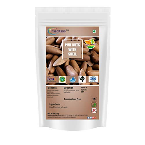 Neotea Pine Nuts (Chilgoza) with Shelled (100g) - Nuts Pine Shell