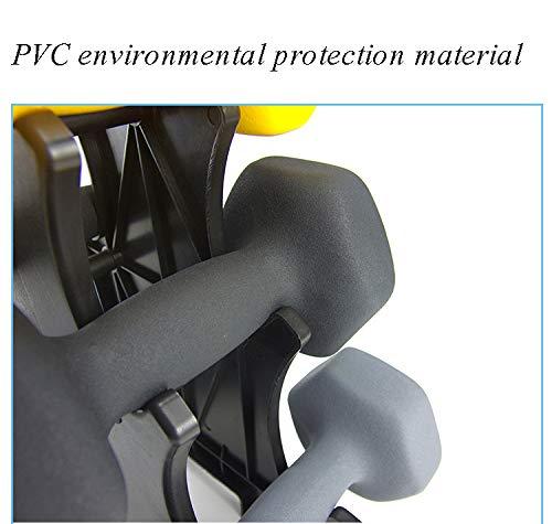 SVNA Pesas Mancuernas Mancuerna PVC Recubierto Hexagonal Código de Color Antideslizante para Mancuernas Fácil de Leer para tonificación Muscular y pérdida ...