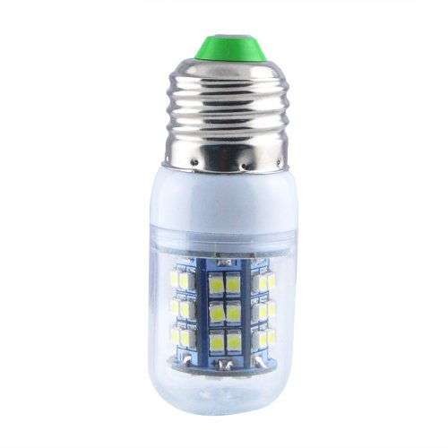 Jombo 10 pieces of Energy Saving 280LM Day White Corn Light Lamp Bulb E27 48 SMD 3528 LED 6000-6500K Equivalent Halogen 40W With Transparent Cover