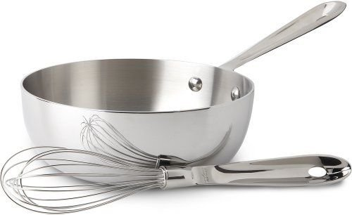 All-Clad 4212 No Lid Whisk Stainless Steel d5 brushed 2-Quart Saucier with Whisk ;JM#54574-4565467/341177060