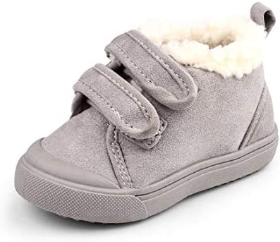 NINGDER Baby Boys Girls Winter Snow Boots Infant Slip On Casual Sneakers Toddlers First Walkers Anti Skid Warm Fleece Outdoor Shoes