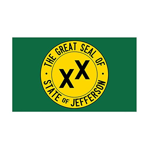 CafePress - State Of Jefferson Flag - Rectangle Bumper Sticker Car Decal