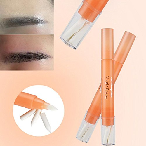 DZT1968 1PC Tattoo Eyebrow Design Remove Skin Marker non-toxic medical ink Pen Magic Eraser Beauty Makeup Cleanser (Remove Permanent Marker)