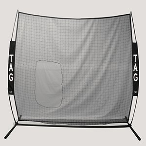 TAG Travel Pitchers Screen, 7 x 7 with Cutout and Carry Bag by TAG