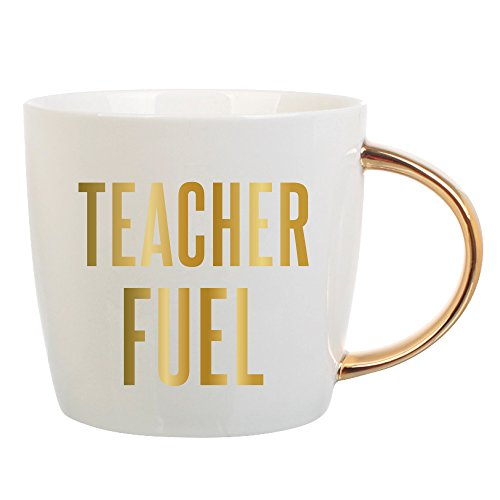 Teacher Fuel - 14 oz Ceramic Coffee Mug - Funny Teacher Mug - Perfect Teacher Appreciation Gift, Teacher Christmas Gift, Teacher Birthday Gift, End Of Year Teacher Gift