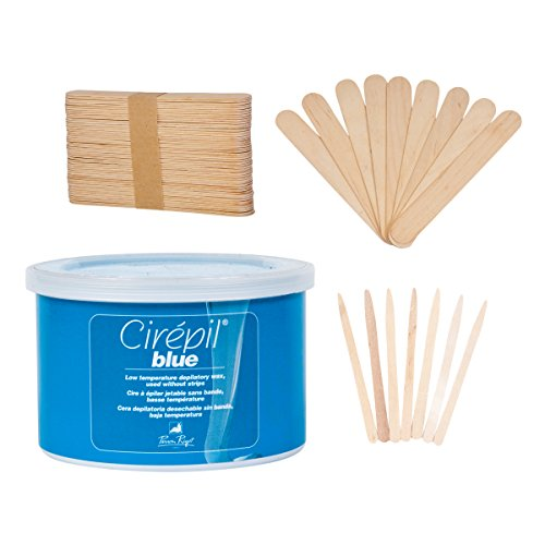 Cirepil Blue Tin Kit (14 oz), includes 100 X-Small and 60 Large Applicator Sticks by JMT Beauty