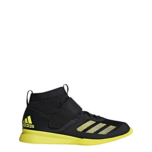 adidas Men's Crazy Power Rk Cross Trainer, Black/Shock Yellow/Carbon, 10.5 M US ()
