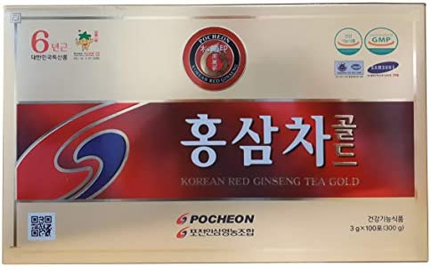 Pocheon 300g 3g x 100p Korean Panax Red Ginseng Roots Extract Tea Gold 6Years, 15 Extract