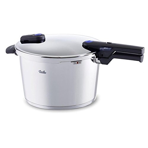 Fissler Vitaquick Pressure Cooker with Perforated Inset, 8.0 L, Stainless Steel (FSSFIS5859)