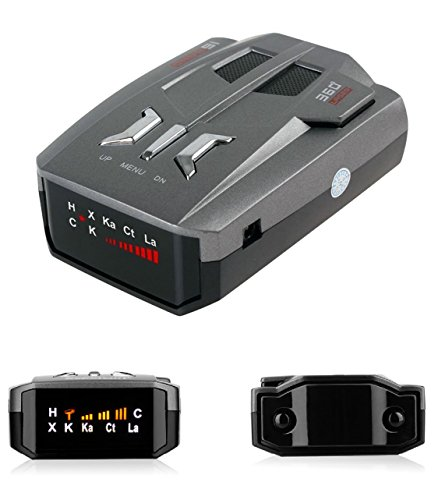 Radar Detector, Voice Alert and Car Speed Alarm System with 360 Degree Detection, Radar Detectors for