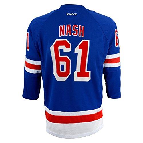 Rick Nash New York Rangers Blue NHL Kids Reebok Home Replica Jersey Size 4-7