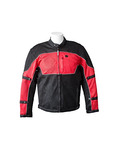 RoadDog Hurricane Mesh Motorcycle Riding Jacket Red Men's 2X Large by RoadDog Apparel