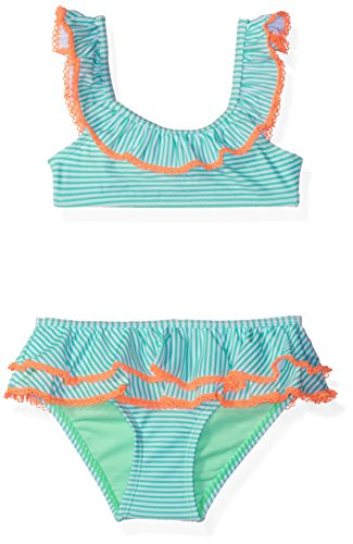 Hulu Star Little Girls' Toddler Sailor Stripe Two Piece Bikini
