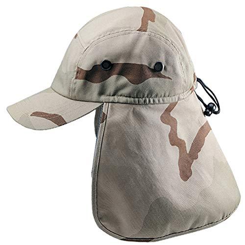 New Desert Camo Cap Sun Protection Foreign Legion Flap Hat