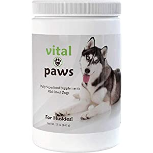 Vital Paws for Huskies | Daily Superfood Biscuits | Dog Multivitamins & Supplements | Contains Omega-3 Fish Oils, Turmeric, Probiotics, and More! 1