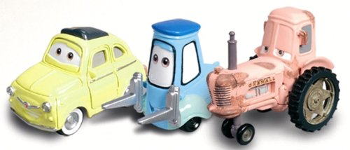 Luigi, Guido & Tractor Character Vehicle Set From Disney Cars