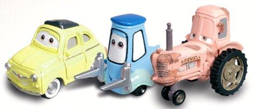 Mattel Luigi, Guido & Tractor Character Vehicle Set From Disney (Luigi Guido Tractor)