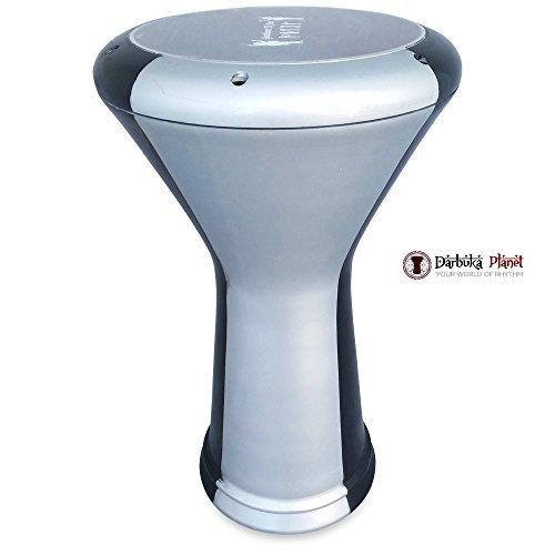 17'' Silver Spark Percussion Percussion Gawharet El Fan & ZAZA Percussion Joint Venture Darbuka Drum Doumbek by Gawharet El Fan/ZAZA Percussion