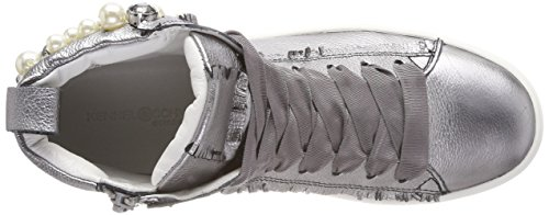 Town Collo a Alluminio Sneaker Weiß Sohle Pearl Silber Kennel und Schmenger Donna Alto Schuhmanufaktur gqA4aYna
